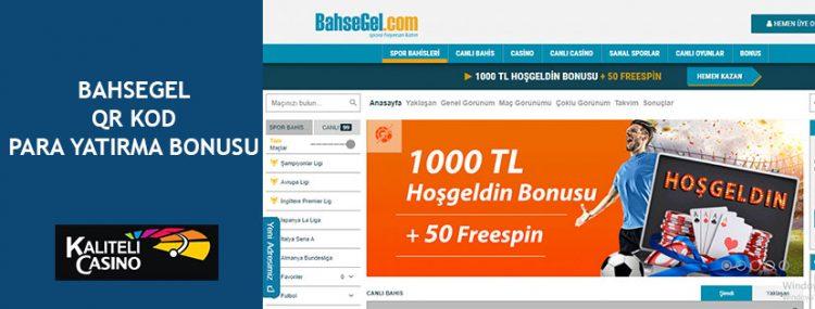 BahseGel QR Kod Para Yatırma Bonusu